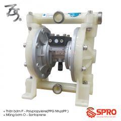 """Máy bơm màng khí nén Đài Loan Port-size 1/2"""" TDS DS04-PAT-OPTP-02"""