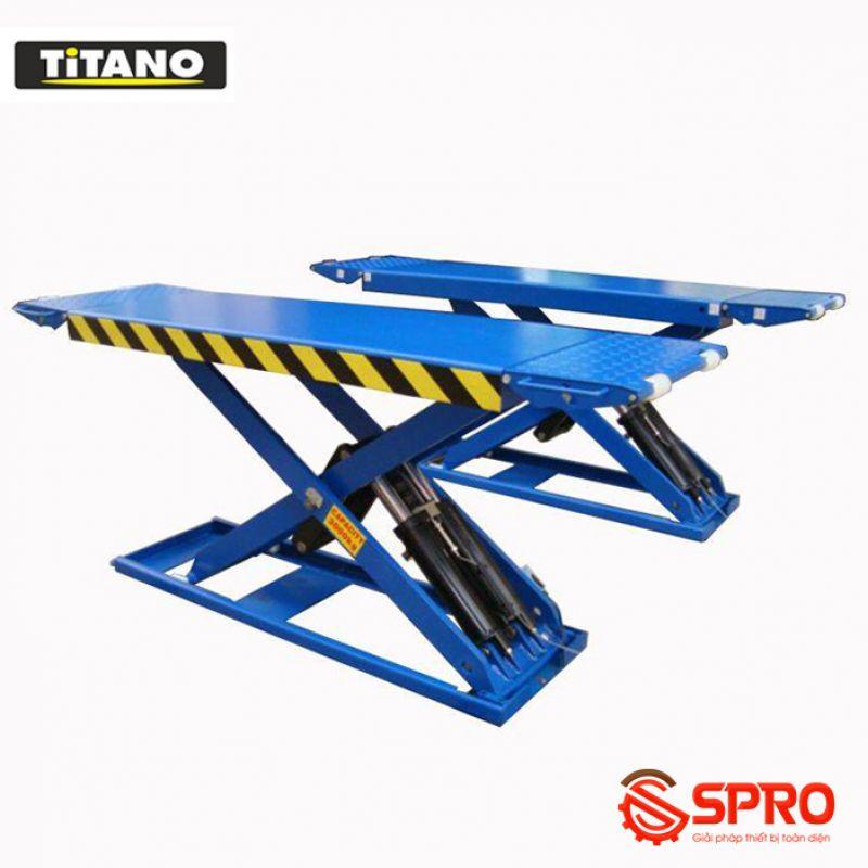 Cầu nâng cắt kéo nâng bụng ô tô TITANO 3.0SSE - Trọng tải 3 tấn