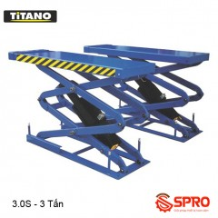 Cầu nâng cắt kéo nâng bụng ô tô TITANO 3.0S - Trọng tải 3 tấn