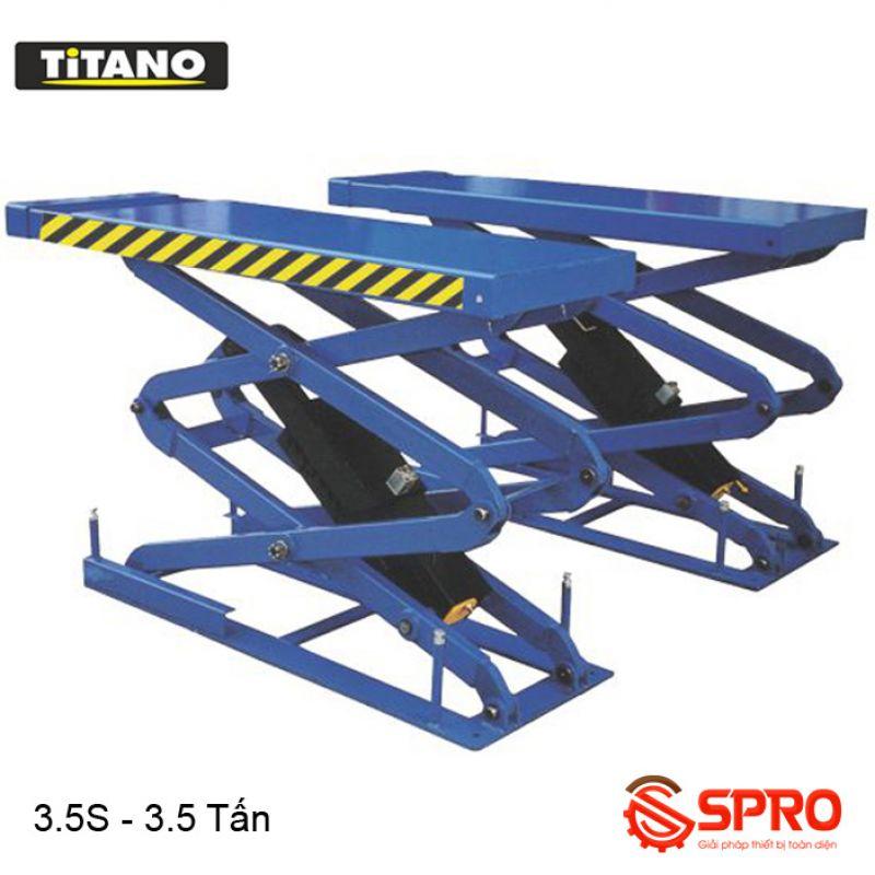 Cầu nâng kiểu xếp nâng bụng ô tô TITANO 3.5S - Trọng tải 3,5 tấn
