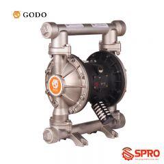 Máy bơm màng khí nén Godo QBY3-40P316FFF - Port Size 1-1/2''