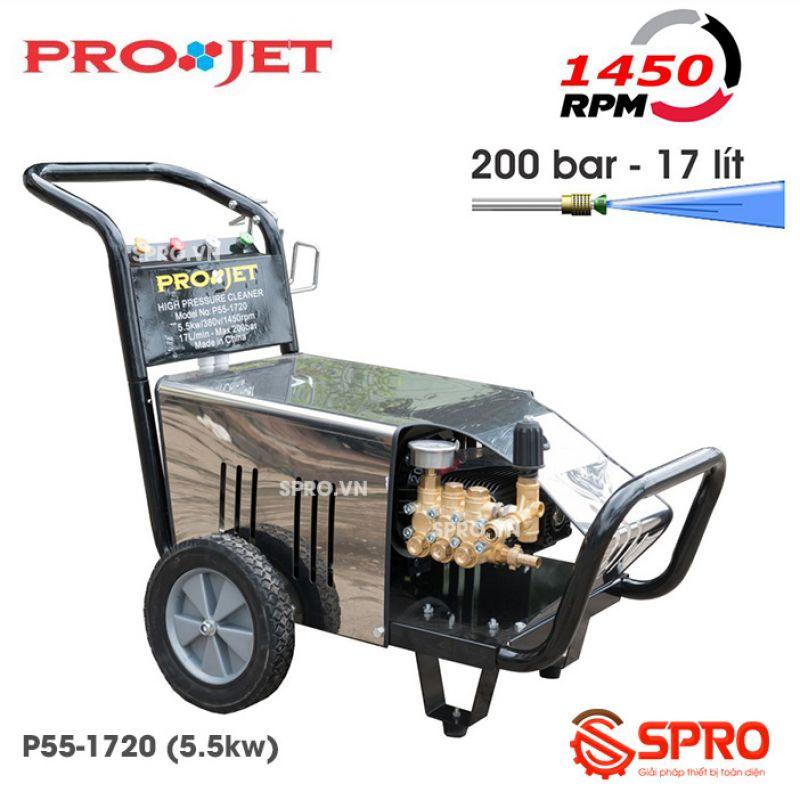 Máy phun xịt rửa áp lực cao Projet P55-1720 - 5.5kw