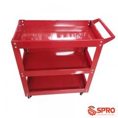 Xe đẩy dụng cụ 3 ngăn có tay cầm SPR XDC-3P