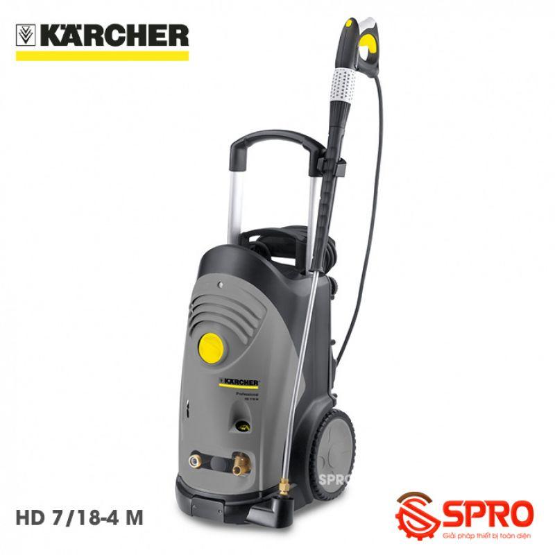 Máy rửa xe cao áp hiệu Karcher HD 7/18-4 M - Tích hợp AVS