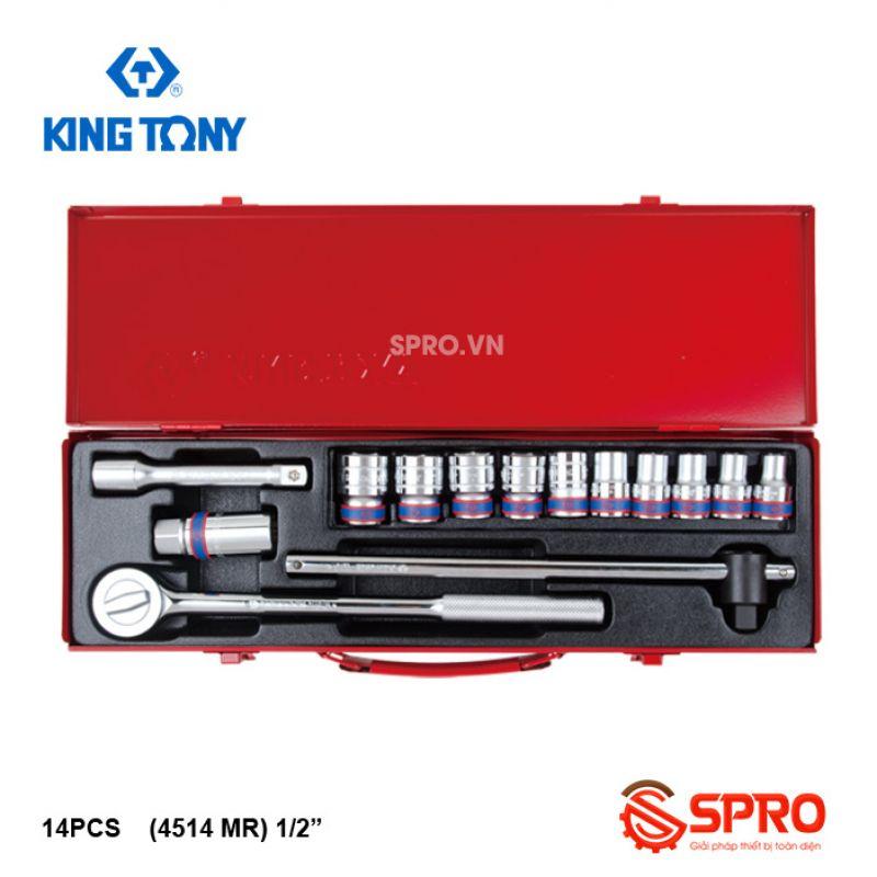 """Bộ khẩu tuýp lục giác 14 chi tiết kingtony 4514MR - 1/2"""", 10-27mm"""
