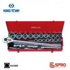 """Bộ khẩu tuýp hoa thị 23 chi tiết Kingtony 6023MR 3/4"""", 21-50mm"""
