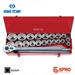 """Bộ khẩu tuýp hoa thị 24 chi tiết Kingtony 6224CR 3/4"""", 22-50mm"""