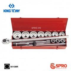 """Bộ khẩu tuýp hoa thị 14 chi tiết Kingtony 8015MR 1"""", 36-80mm"""