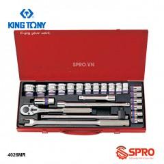 """Bộ khẩu tuýp hoa thị 24 chi tiết Kingtony 4026MR 1/2"""", 10-32mm"""