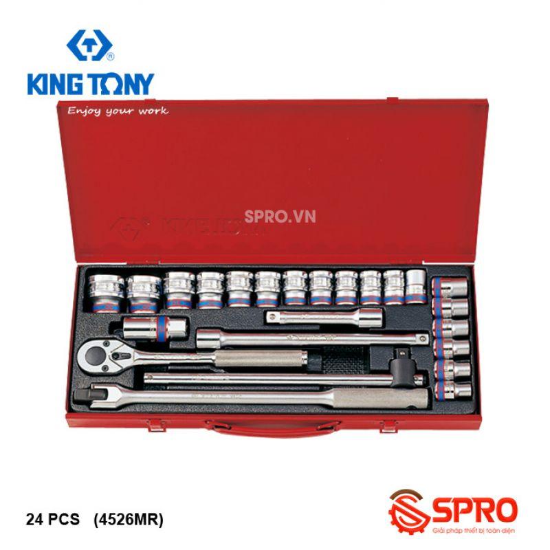 """Bộ khẩu tuýp lục giác Kingtony 24 chi tiết 4526MR 1/2"""", 10-32mm"""
