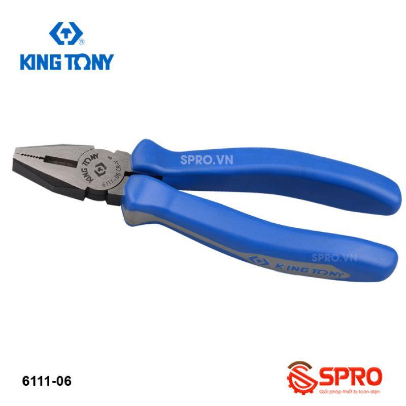 "Kìm mỏ bằng Kingtony 1/2"" 6111-06, 6mm"