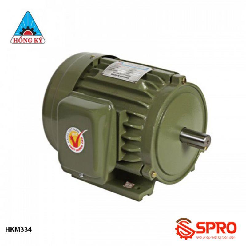 Mô tơ động cơ điện Hồng Ký HKM334 3 pha công suất 3HP