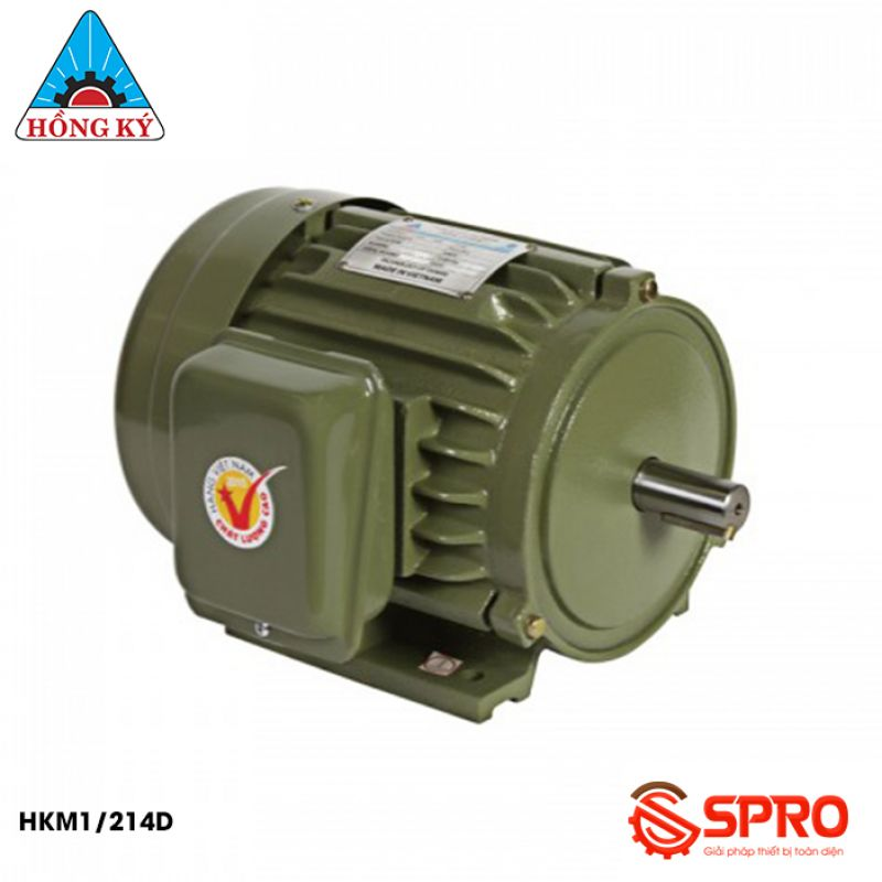Mô tơ động cơ điện Hồng Ký HKM1/214D loại 1 pha công suất 0.5HP (1/2HP)