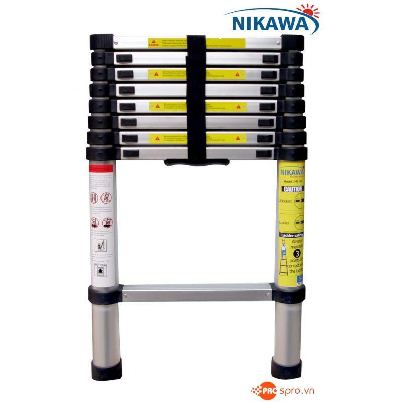 Thang nhôm rút gọn đơn 8 bậc NIKAWA NK-26 cao 2.6m