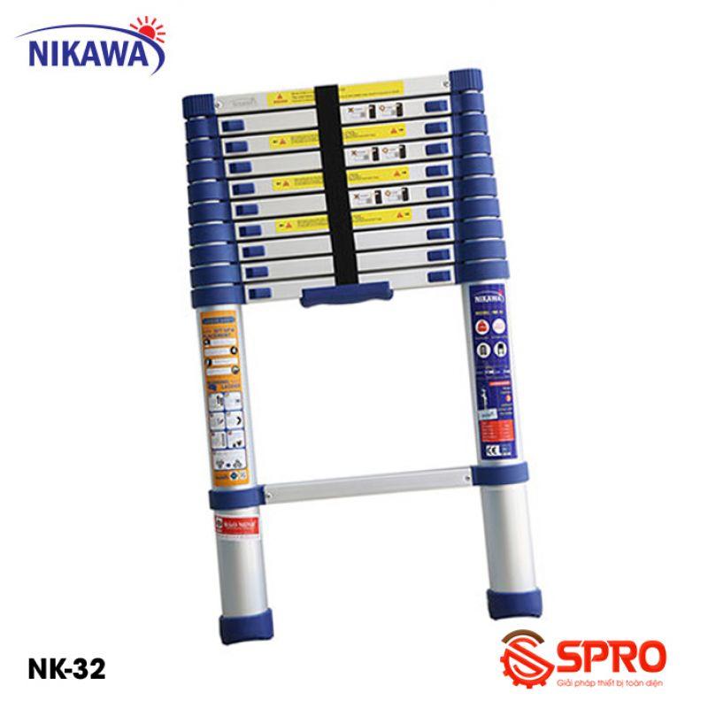 Thang nhôm rút gọn đơn 10 bậc NIKAWA NK-32 Cao 3.2m