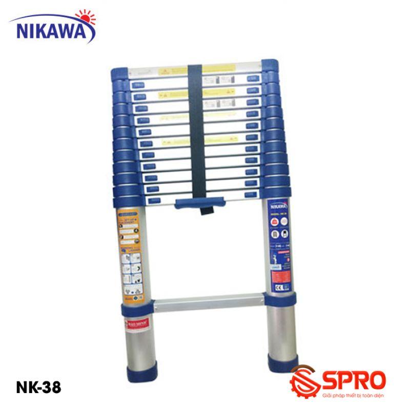 Thang nhôm rút gọn đơn 13 bậc NIKAWA NK-38 cao 3.8m