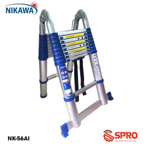 Thang nhôm rút gọn chữ A 2x9 bậc NIKAWA NK-56AI