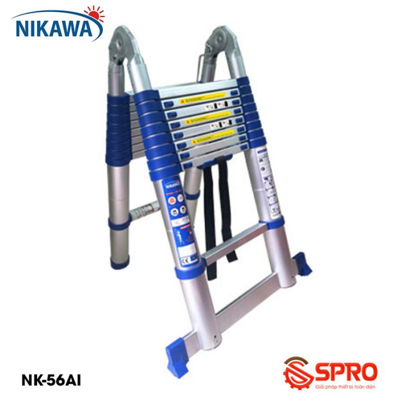 Thang nhôm rút gọn chữ A 2x9 bậc NIKAWA NK-56AI cao 5.6m