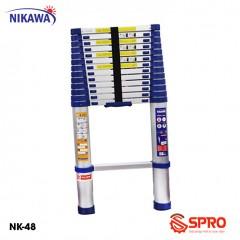 Thang nhôm rút gọn đơn 14 bậc NIKAWA NK-48 cao 4.8m