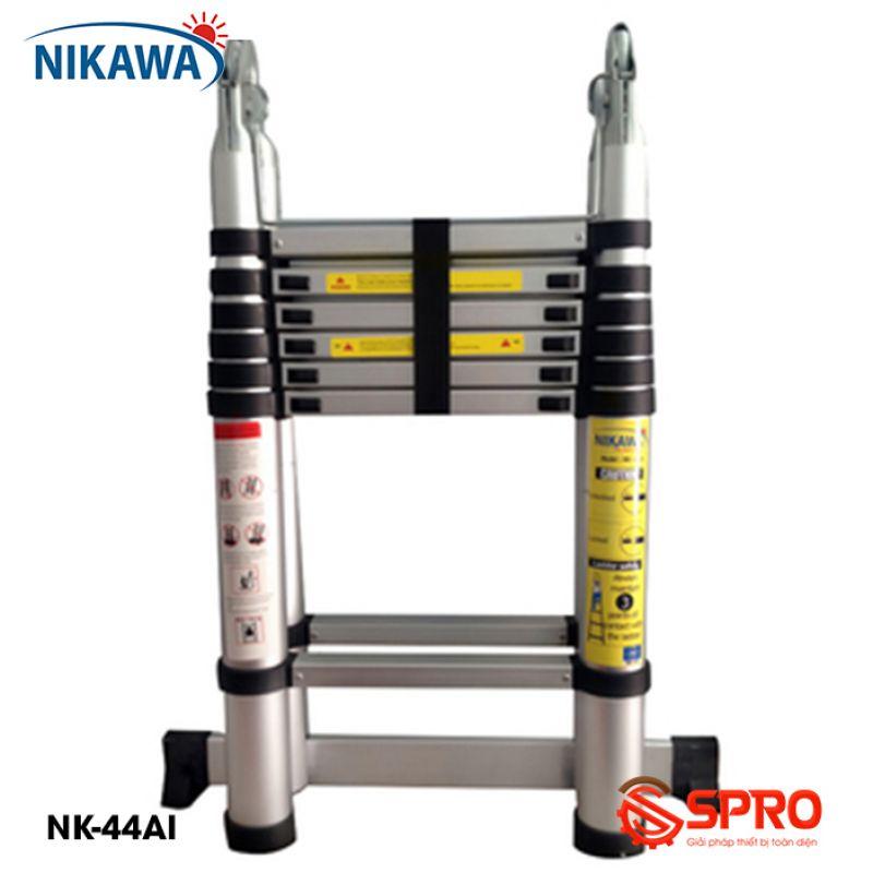 Thang nhôm rút gọn chữ A 2x7 bậc NIKAWA NK-44AI cao 4.4m