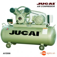 Máy nén khí piston 3HP 1 cấp Jucai AV2508 - Dung tích 100L