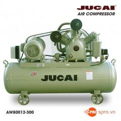 Máy nén khí Jucai 10HP 2 cấp AW80012-300 - Dung tích bình 300L
