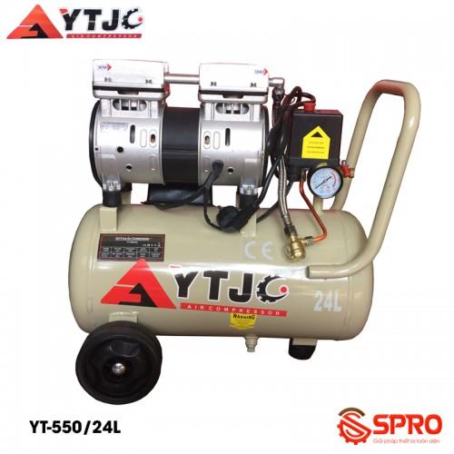 Máy bơm hơi mini không dầu 1HP YTJC YT-550/24L - Dung tích 24L