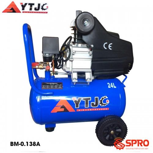 Máy bơm hơi mini có dầu 3HP YTJC BM-0.138A - Dung tích 24L