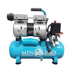 Máy nén khí mini không dầu 0.75HP Minbao MB-09L - Dung tích 9L