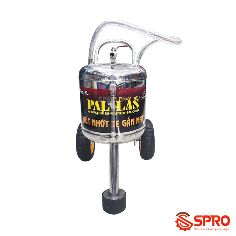 Máy hút nhớt xe máy inox Pallas - Dung tích 8 lít