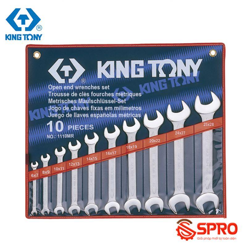 Bộ cờ lê 2 đầu miệng 10 chi tiết Kingtony 1110MR