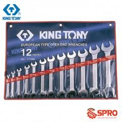 Bộ cờ lê 2 đầu miệng 12 chi tiết Kingtony 1112MR