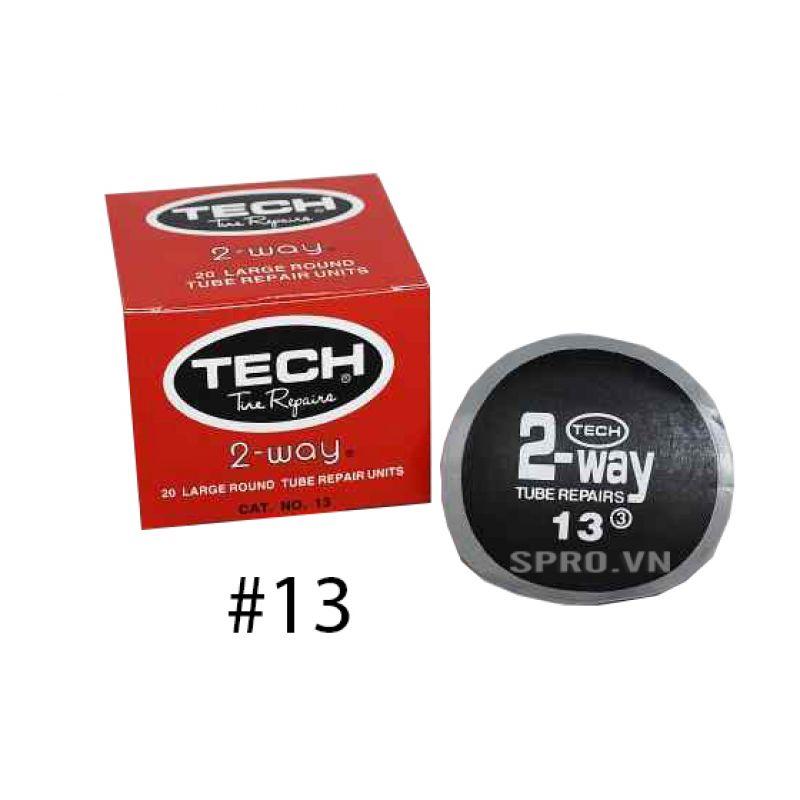 Hộp 20 miếng vá săm hình tròn 80mm Tech #13