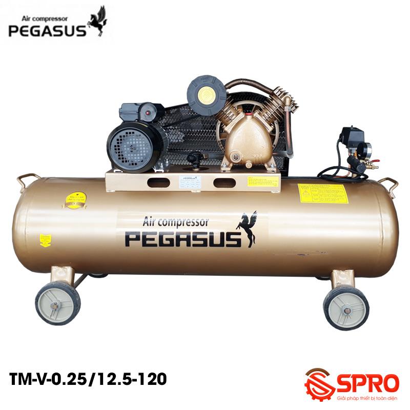 Máy bơm hơi 3HP PEGASUS TM-V-0.25/12.5-120L - Dung tích 120L