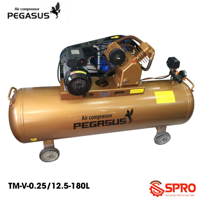 Máy bơm hơi Pegasus 3hp TM-V-0.25/12.5-180L - Dung tích 180L