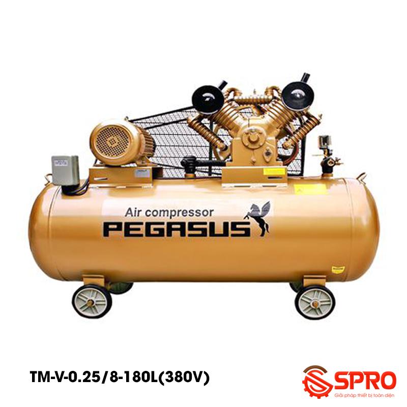 Máy bơm hơi Pegasus 3hp TM-V-0.25/8-180-380 - Dung tích 180L