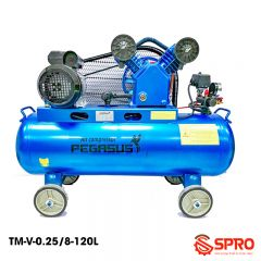 Máy nén khí piston 3HP PEGASUS TM-V-0.25/8-120 - Dung tích 120L