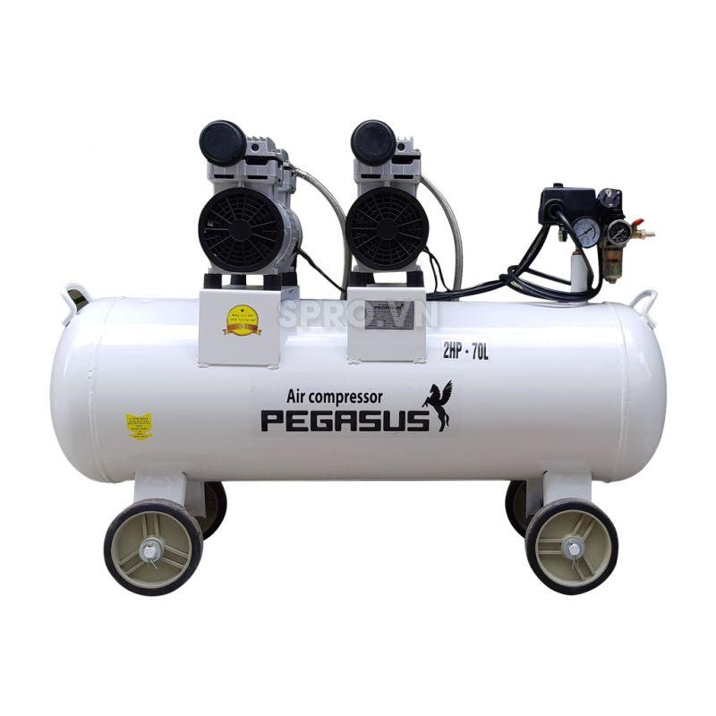 Máy nén khí không dầu 2HP Pegasus TM-OF750x2-70 - Dung tích 70L