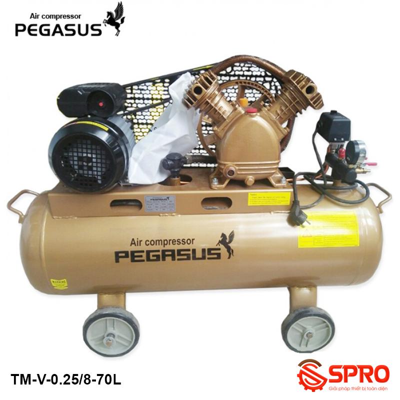Máy nén khí 3HP PEGASUS TM-V-0.25/8-70 - Dung tích 70L