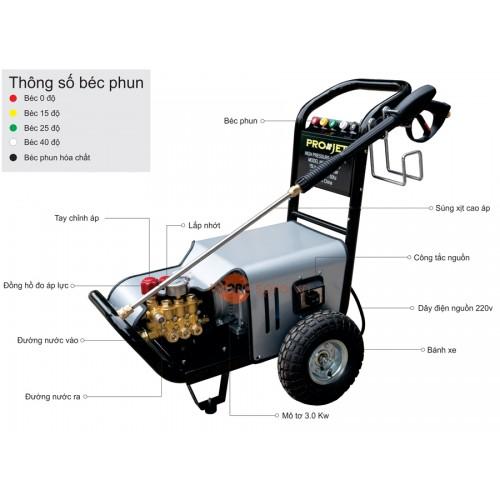 Máy xịt rửa xe áp lực cao PROJET P3000-15