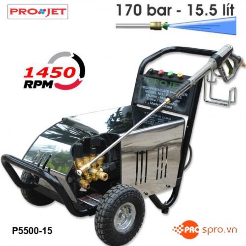Máy phun xịt rửa áp lực cao Projet P5500-15 - Công suất 5.5 Kw