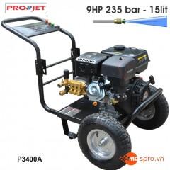 Máy phun xịt rửa áp lực cao Projet P3400A - Chạy xăng