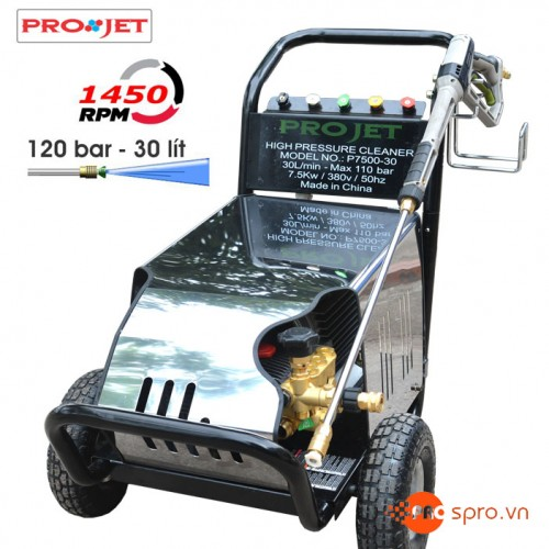 Máy rửa xe - máy phun xịt rửa áp lực cao Projet P7500-30
