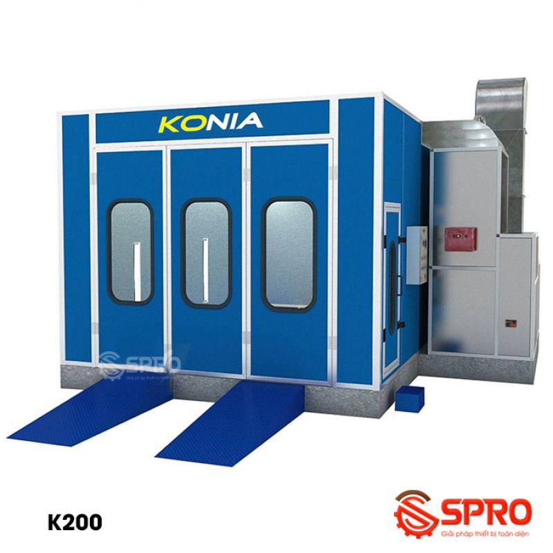 Phòng sơn ô tô Konia, sấy bằng hồng ngoại K200 - 2 Quạt
