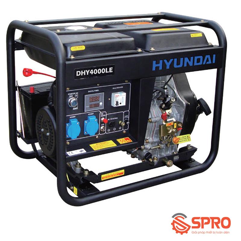 Máy phát điện chạy dầu Hyundai 3Kw DHY-4000LE