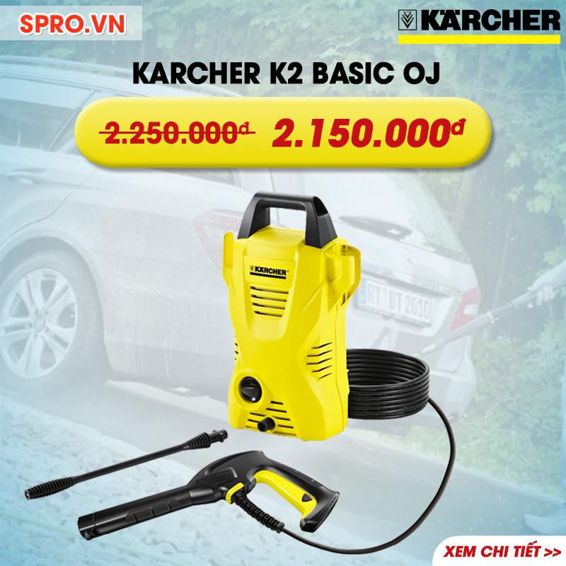 Máy xịt rửa xe gia đình KARCHER K2 Basic oj