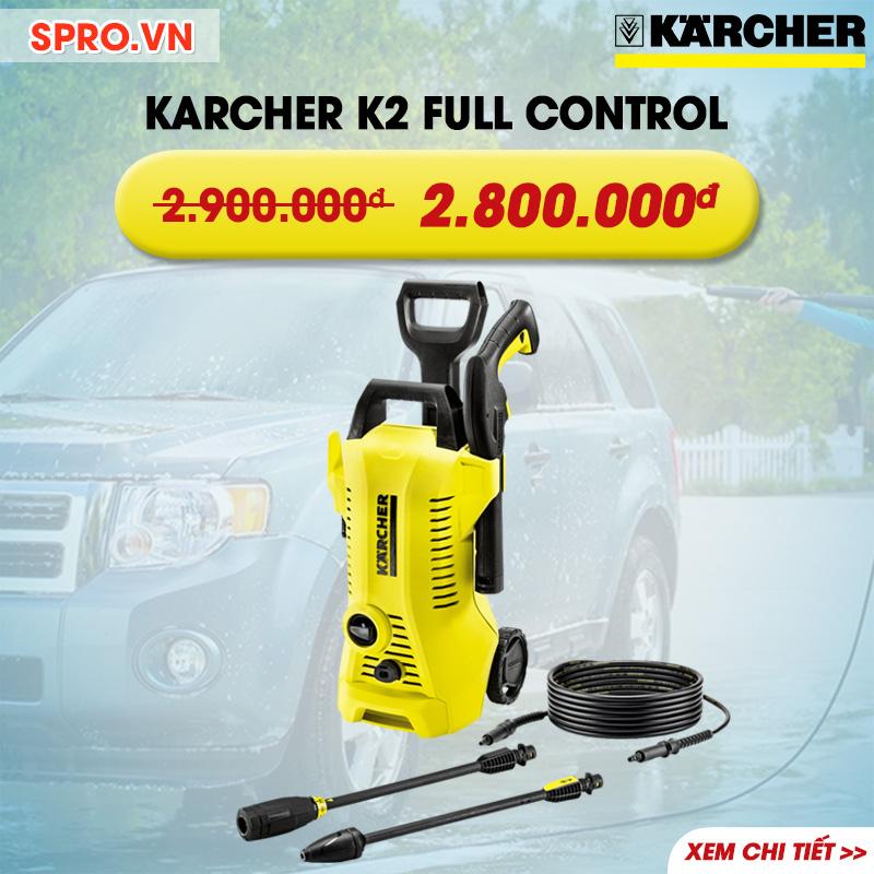 Máy xịt rửa gia đình Karcher K2 Full Control