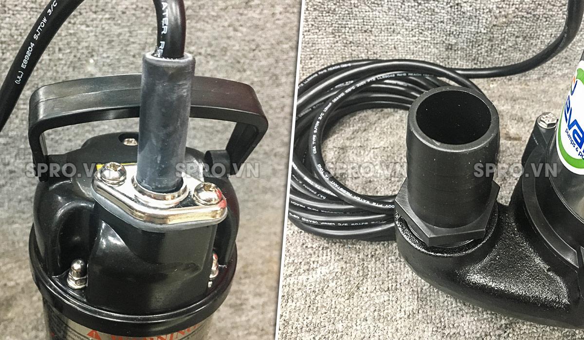 Chi tiết máy bơm chìm nước thải Evak ESV-5.03
