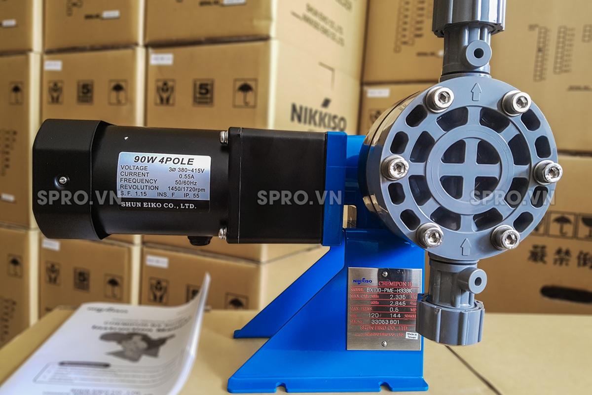 Bơm định lượng hóa chất Nikkiso BX 100 PVC