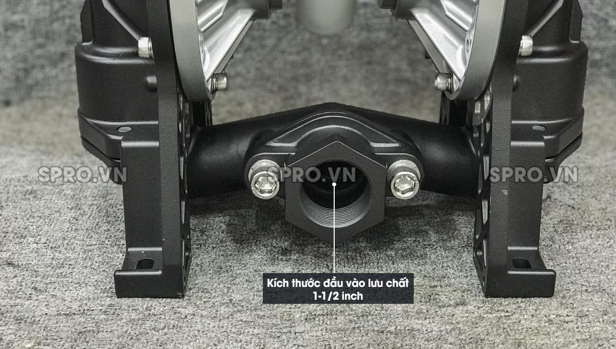 Kích thước đầu hút bơm màng DS14 1-1/2 inch